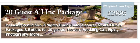 20 Guest Inclusive Wedding Package at Gretna Green