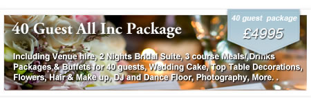 40 Guest Inclusive Wedding Package at Gretna Green